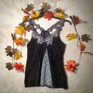 BKE Boutique Flower Strap Blouse with Sequins 🌸
